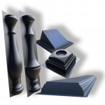 Forms for concrete balusters and railings
