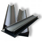 Forms for gutters of abs plastic