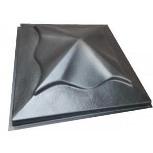 """Форма для крышки столба """" Медуза """" Размеры: 450x450x110 мм"""