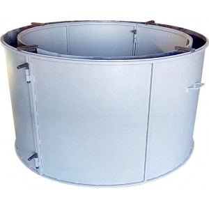 Форма для бетонного кольца колодезного №5 стенка 4 мм Размеры 1180/1000/890 мм