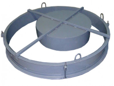 Форма крышки и днища для изготовления бетонных колец 1500 мм