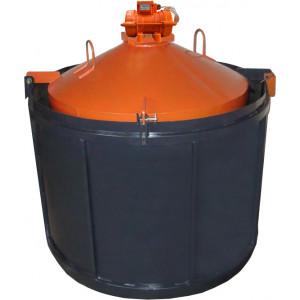 Віброформи полегшена 2000 стінка 2 мм з ІВ-98 для бетонного кільця