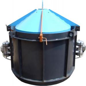 Віброформи посилена 1500 стінка 4 мм з ІВ-99 для бетонного кільця