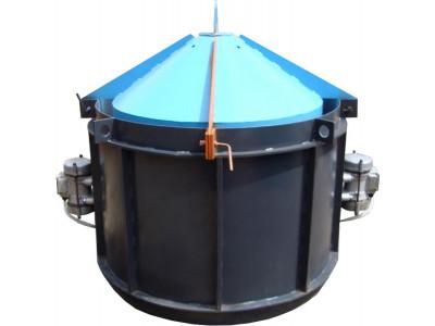 Виброформа усиленная 1500 стенка 4 мм с ИВ-99 для бетонного кольца