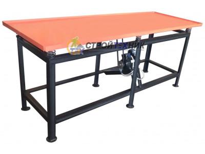 Вибростол бытовой ВС-2100 (220 В) для изготовлпения забору, тротуарной плитки