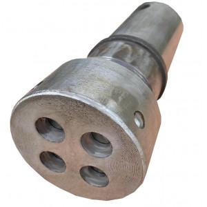 Шнек + Колба (Гильза) + Гайка к экструдеру КР-150 c внутренним отрезным ножом