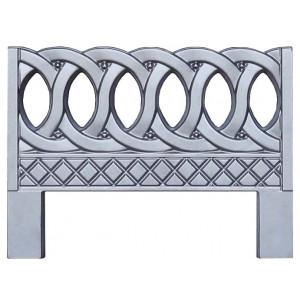 Форма для оградки из АБС №6 Размеры: 600x800x40 мм