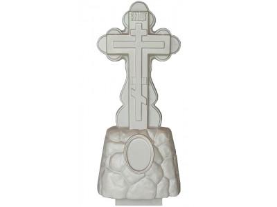 Форма для памятника из АБС №001 Размеры: 1120х480х160/90 мм