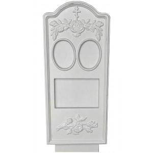 Форма для памятника из АБС №006 Размеры: 1000х450х100 мм