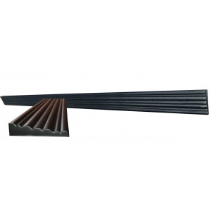 Форма для молдинга полифасада из АБС №3 Размеры: 2000х100х35-25 мм