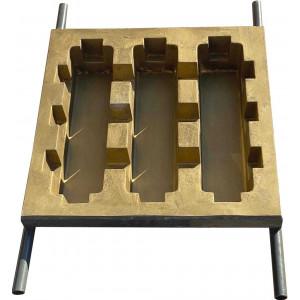 Форма стеклопластиковая для плиты газонной