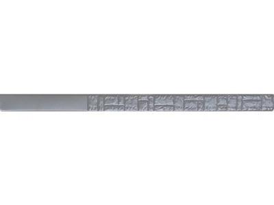 """Форма для столба """" Колотый камень """" из АБС №8 без пазов Размеры: 2300х125х125 мм"""