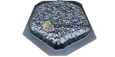 """Форма для тротуарної плитки з АБС """"Діно еко"""" Розміри: 400х400х40 мм"""