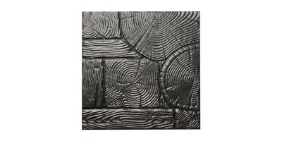 """Форма для тротуарної плитки з АБС """"Дерево"""" №10 Розміри: 400х400х40 мм"""