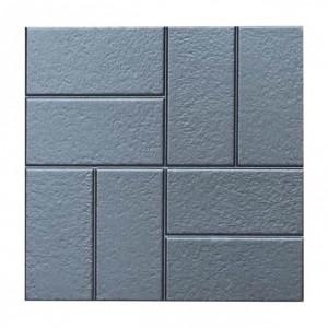"""Форма для тротуарної плитки з АБС """"Вісім цегли шагрень"""" №4 Розміри: 400х400х40 мм"""