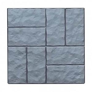 """Форма для тротуарной плитки из АБС """"Восемь колотых кирпичей"""" №5"""