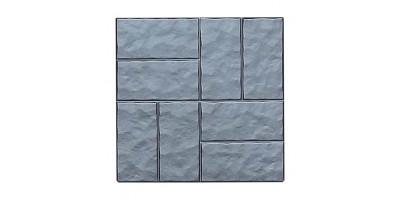 """Форма для тротуарної плитки з АБС """"Вісім колотих цеглин"""" №5 Розміри: 400х400х40 мм"""