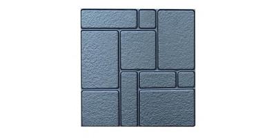 """Форма для тротуарної плитки з АБС """"Камені шагрень"""" №7 Розміри: 400х400х40 мм"""
