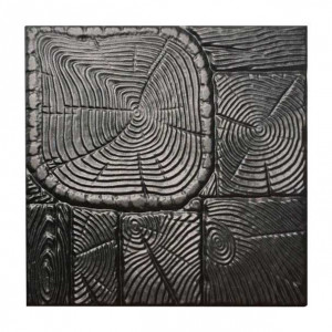 "Форма для тротуарной плитки из АБС ""Дерево"" №8 Размеры: 400х400х40 мм"