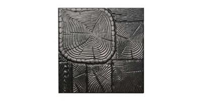 """Форма для тротуарної плитки з АБС """"Дерево"""" №8 Розміри: 400х400х40 мм"""