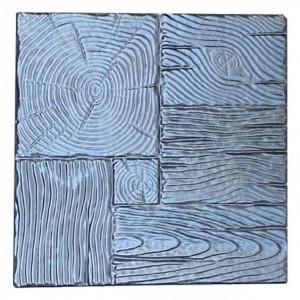 "Форма для тротуарной плитки из АБС ""Дерево"" №9 Размеры: 400х400х40 мм"