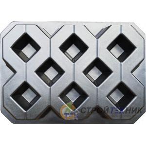 Форма для тротуарной плитки из АБС Газонная №1