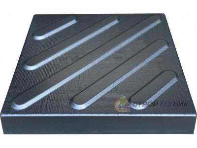 "Форма для тротуарной плитки из АБС ""Поворот"" №17 Размеры: 300х300х30 мм"