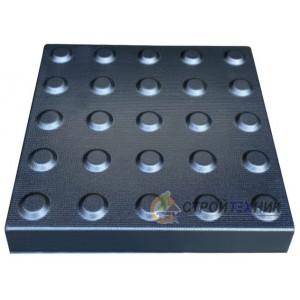 """Форма для тротуарной плитки из АБС """"Внимание"""" №15 Размеры: 300х300х30 мм"""
