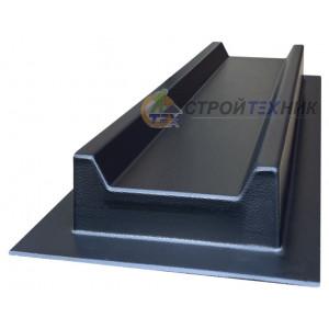 Форма для відливу водостоку з квадратним жолобом з АБС №4 Розміри: 500х160х50 мм