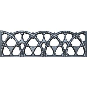 Форма для паркану з АБС № 26